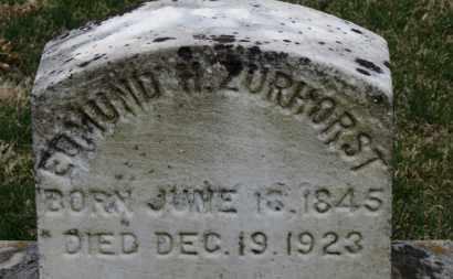 ZURHORST, EDMUND H. - Erie County, Ohio | EDMUND H. ZURHORST - Ohio Gravestone Photos