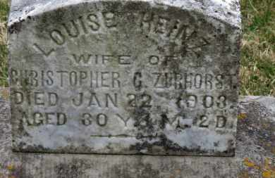 ZURHORST, LOUISE - Erie County, Ohio | LOUISE ZURHORST - Ohio Gravestone Photos