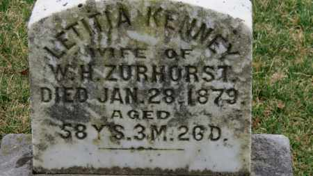 ZURHORST, LETITIA - Erie County, Ohio | LETITIA ZURHORST - Ohio Gravestone Photos