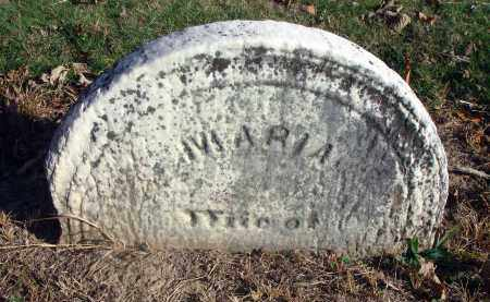 ?, MARIA - Fairfield County, Ohio | MARIA ? - Ohio Gravestone Photos