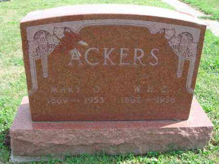 ACKERS, W.H.C. - Fairfield County, Ohio | W.H.C. ACKERS - Ohio Gravestone Photos