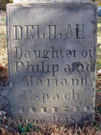 ALSPACH, DELILAH - Fairfield County, Ohio | DELILAH ALSPACH - Ohio Gravestone Photos