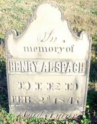 ALSPACH, HENRY - Fairfield County, Ohio | HENRY ALSPACH - Ohio Gravestone Photos