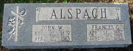 ALSPACH, FRANCES G. - Fairfield County, Ohio | FRANCES G. ALSPACH - Ohio Gravestone Photos