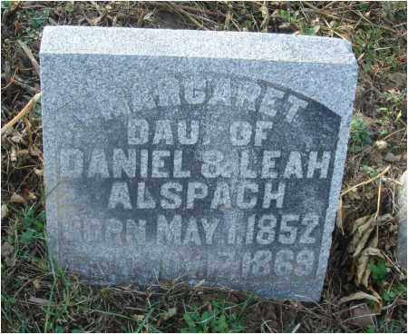 ALSPACH, MARGARET - Fairfield County, Ohio | MARGARET ALSPACH - Ohio Gravestone Photos