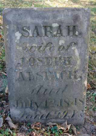 ALSPACH, SARAH - Fairfield County, Ohio | SARAH ALSPACH - Ohio Gravestone Photos