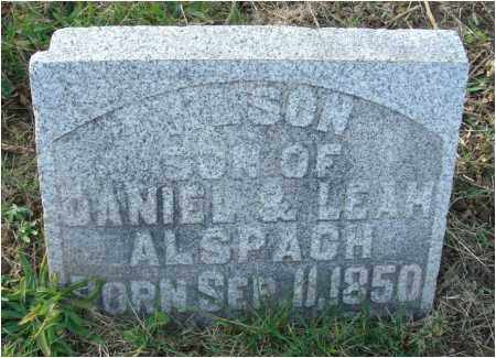 ALSPACH, WILSON - Fairfield County, Ohio | WILSON ALSPACH - Ohio Gravestone Photos