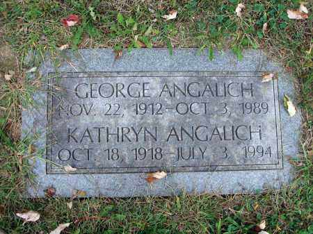 ANGALLICH, GEORGE - Fairfield County, Ohio | GEORGE ANGALLICH - Ohio Gravestone Photos