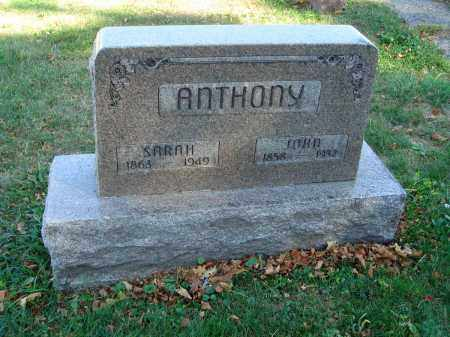 ANTHONY, SARAH - Fairfield County, Ohio | SARAH ANTHONY - Ohio Gravestone Photos