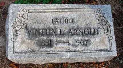 ARNOLD, VINTON L. - Fairfield County, Ohio | VINTON L. ARNOLD - Ohio Gravestone Photos