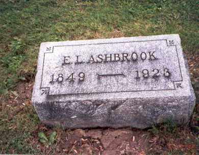 ASHBROOK, E. L. - Fairfield County, Ohio | E. L. ASHBROOK - Ohio Gravestone Photos