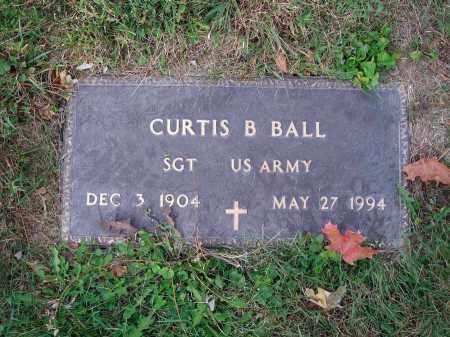 BALL, CURTIS B. - Fairfield County, Ohio | CURTIS B. BALL - Ohio Gravestone Photos