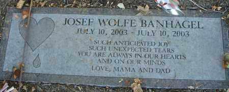BANHAGEL, JOSEF WOLFE - Fairfield County, Ohio | JOSEF WOLFE BANHAGEL - Ohio Gravestone Photos