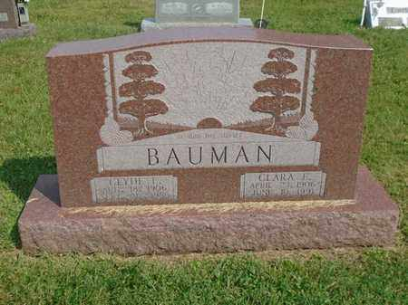 BAUMAN, CLARA E. - Fairfield County, Ohio | CLARA E. BAUMAN - Ohio Gravestone Photos