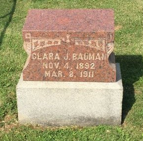 BAUMAN, CLARA J. - Fairfield County, Ohio   CLARA J. BAUMAN - Ohio Gravestone Photos