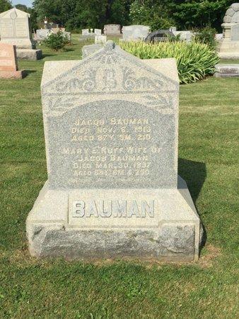 BAUMAN, JACOB - Fairfield County, Ohio   JACOB BAUMAN - Ohio Gravestone Photos