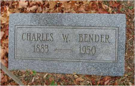 BENDER, CHARLES W. - Fairfield County, Ohio | CHARLES W. BENDER - Ohio Gravestone Photos