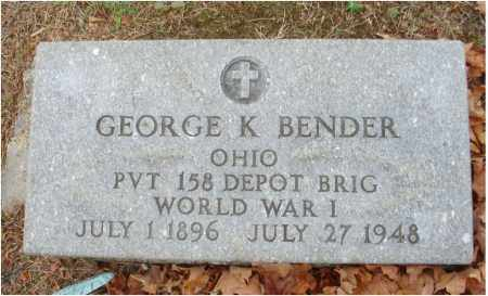 BENDER, GEORGE K. - Fairfield County, Ohio | GEORGE K. BENDER - Ohio Gravestone Photos