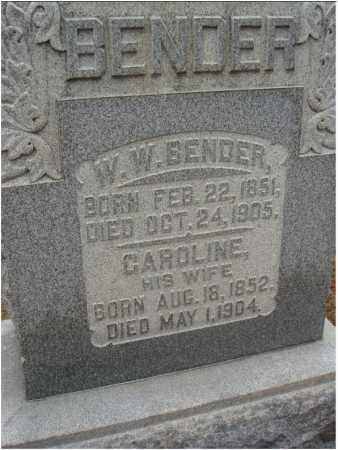 BENDER, W. W. - Fairfield County, Ohio | W. W. BENDER - Ohio Gravestone Photos
