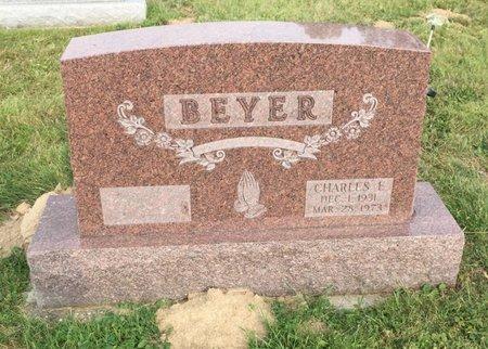 BEYER, CHARLES E. - Fairfield County, Ohio | CHARLES E. BEYER - Ohio Gravestone Photos