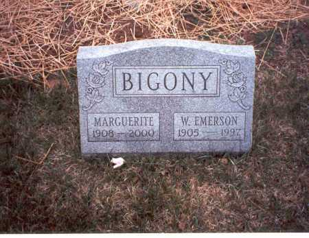 BIGONY, W. EMERSON - Fairfield County, Ohio | W. EMERSON BIGONY - Ohio Gravestone Photos