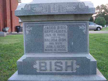 BISH, JACOB - Fairfield County, Ohio | JACOB BISH - Ohio Gravestone Photos