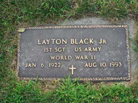 BLACK, LAYTON JR. - Fairfield County, Ohio | LAYTON JR. BLACK - Ohio Gravestone Photos