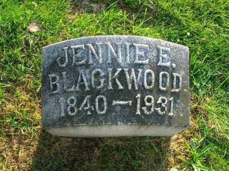 BLACKWOOD, JENNIE E. - Fairfield County, Ohio | JENNIE E. BLACKWOOD - Ohio Gravestone Photos