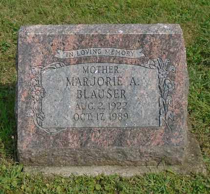 BLAUSER, MARJORIE A. - Fairfield County, Ohio | MARJORIE A. BLAUSER - Ohio Gravestone Photos