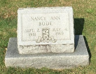 BODE, NANCY ANN - Fairfield County, Ohio | NANCY ANN BODE - Ohio Gravestone Photos