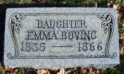 BOVING, EMMA - Fairfield County, Ohio | EMMA BOVING - Ohio Gravestone Photos