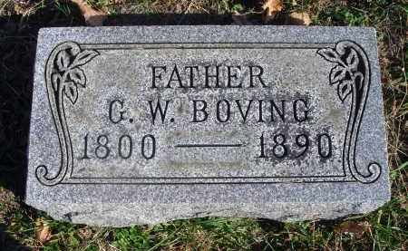 BOVING, GEORGE WILLIAM - Fairfield County, Ohio | GEORGE WILLIAM BOVING - Ohio Gravestone Photos