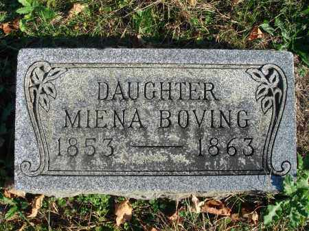 BOVING, MIENA - Fairfield County, Ohio | MIENA BOVING - Ohio Gravestone Photos