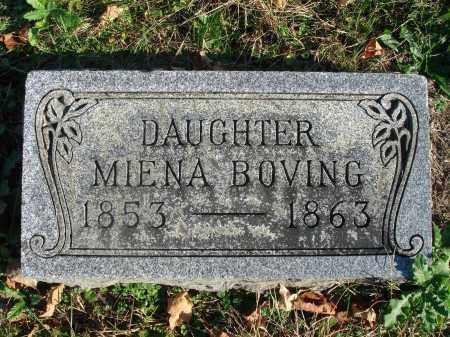 BOVING, MIENA - Fairfield County, Ohio   MIENA BOVING - Ohio Gravestone Photos