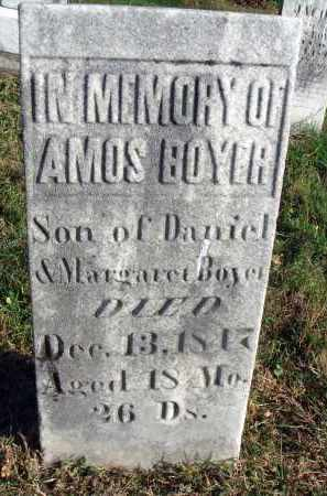 BOYER, AMOS - Fairfield County, Ohio | AMOS BOYER - Ohio Gravestone Photos
