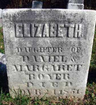 BOYER, ELIZABETH - Fairfield County, Ohio | ELIZABETH BOYER - Ohio Gravestone Photos
