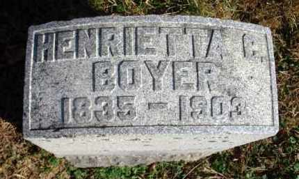 BOYER, HENRIETTA C. - Fairfield County, Ohio | HENRIETTA C. BOYER - Ohio Gravestone Photos