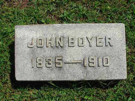 BOYER, JOHN - Fairfield County, Ohio | JOHN BOYER - Ohio Gravestone Photos