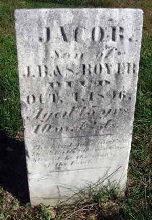 BOYER, JACOB - Fairfield County, Ohio | JACOB BOYER - Ohio Gravestone Photos