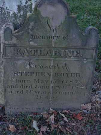 BOYER, KATHARINE - Fairfield County, Ohio | KATHARINE BOYER - Ohio Gravestone Photos