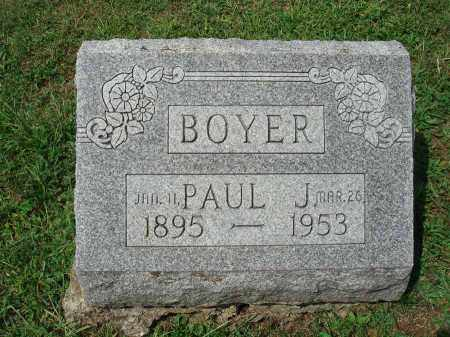 BOYER, PAUL J. - Fairfield County, Ohio | PAUL J. BOYER - Ohio Gravestone Photos
