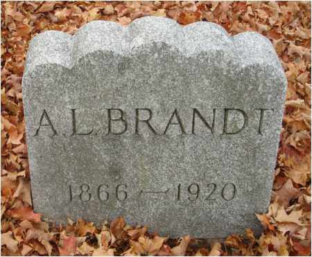 BRANDT, A. L. - Fairfield County, Ohio | A. L. BRANDT - Ohio Gravestone Photos