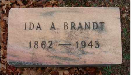 BRANDT, IDA A. - Fairfield County, Ohio | IDA A. BRANDT - Ohio Gravestone Photos