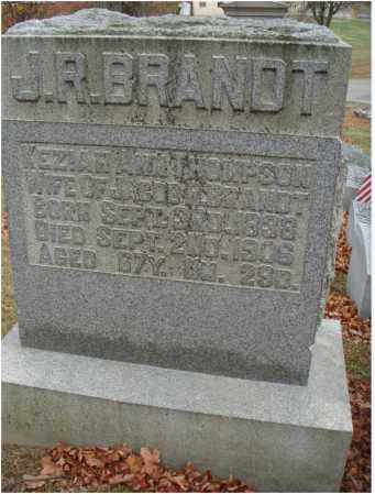 THOMPSON BRANDT, KEZIAH ANN - Fairfield County, Ohio | KEZIAH ANN THOMPSON BRANDT - Ohio Gravestone Photos