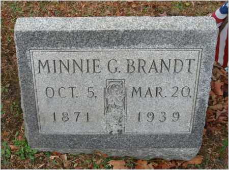 BRANDT, MINNIE G. - Fairfield County, Ohio | MINNIE G. BRANDT - Ohio Gravestone Photos