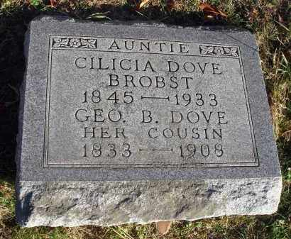 BROBST, CILICIA - Fairfield County, Ohio | CILICIA BROBST - Ohio Gravestone Photos