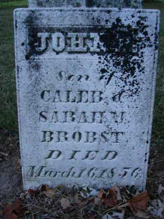 BROBST, JOHN - Fairfield County, Ohio | JOHN BROBST - Ohio Gravestone Photos