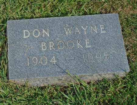 BROOKE, DON WAYNE - Fairfield County, Ohio | DON WAYNE BROOKE - Ohio Gravestone Photos