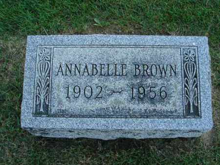 BROWN, ANNABELLE - Fairfield County, Ohio | ANNABELLE BROWN - Ohio Gravestone Photos