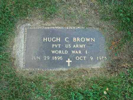 BROWN, HUGH C. - Fairfield County, Ohio | HUGH C. BROWN - Ohio Gravestone Photos